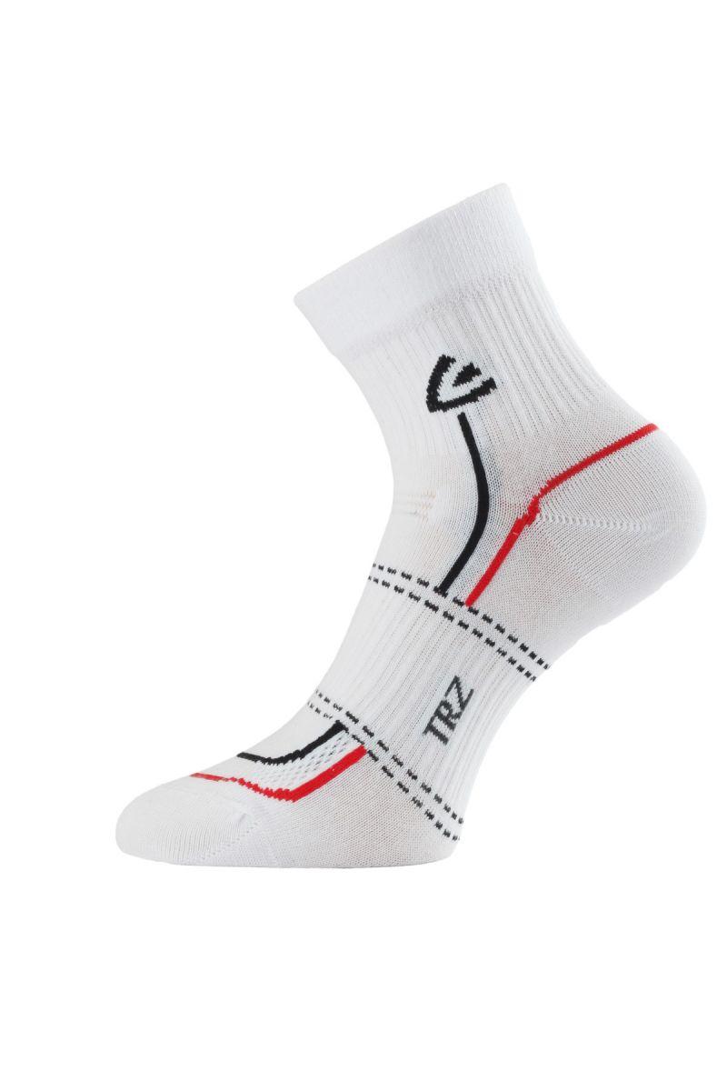 Lasting TRZ 001 ponožky pro aktivní sport bílá Velikost: (42-45) L