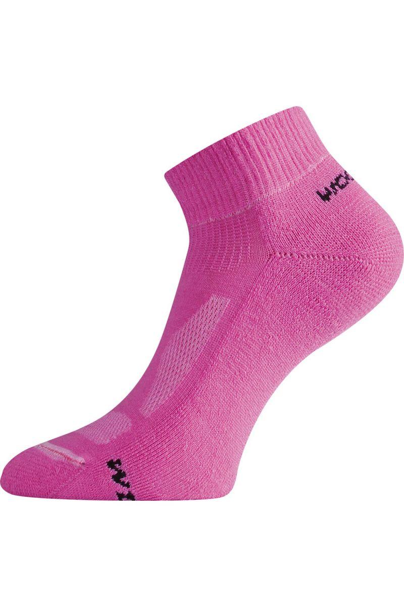 Lasting WDL 409 růžová merino ponožky Velikost: (42-45) L