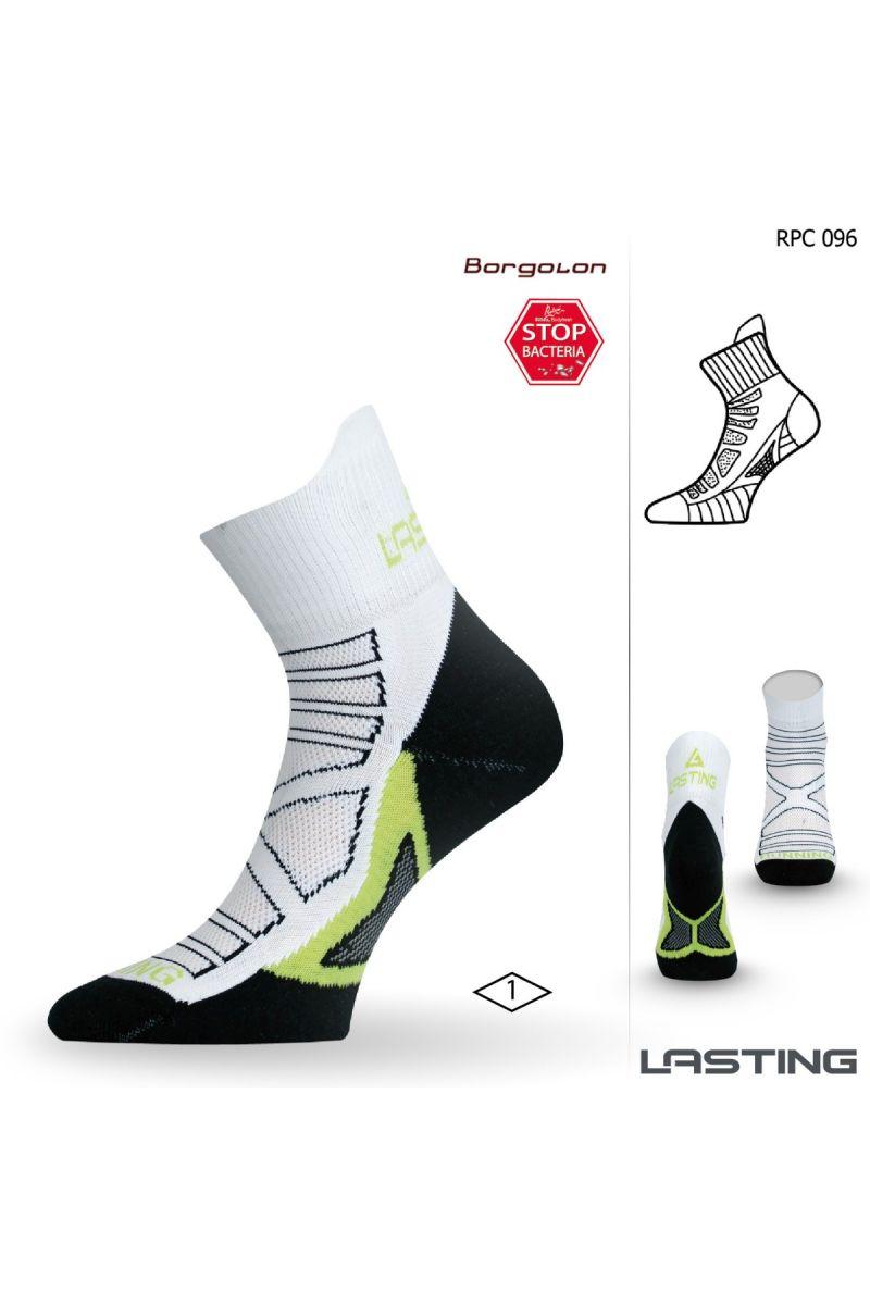 Lasting RPC 096 bílá běžecké ponožky Velikost: (46-49) XL ponožky