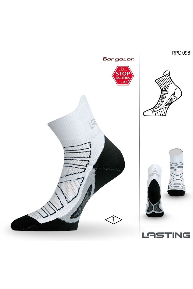Lasting RPC 098 bílá běžecké ponožky Velikost: (46-49) XL