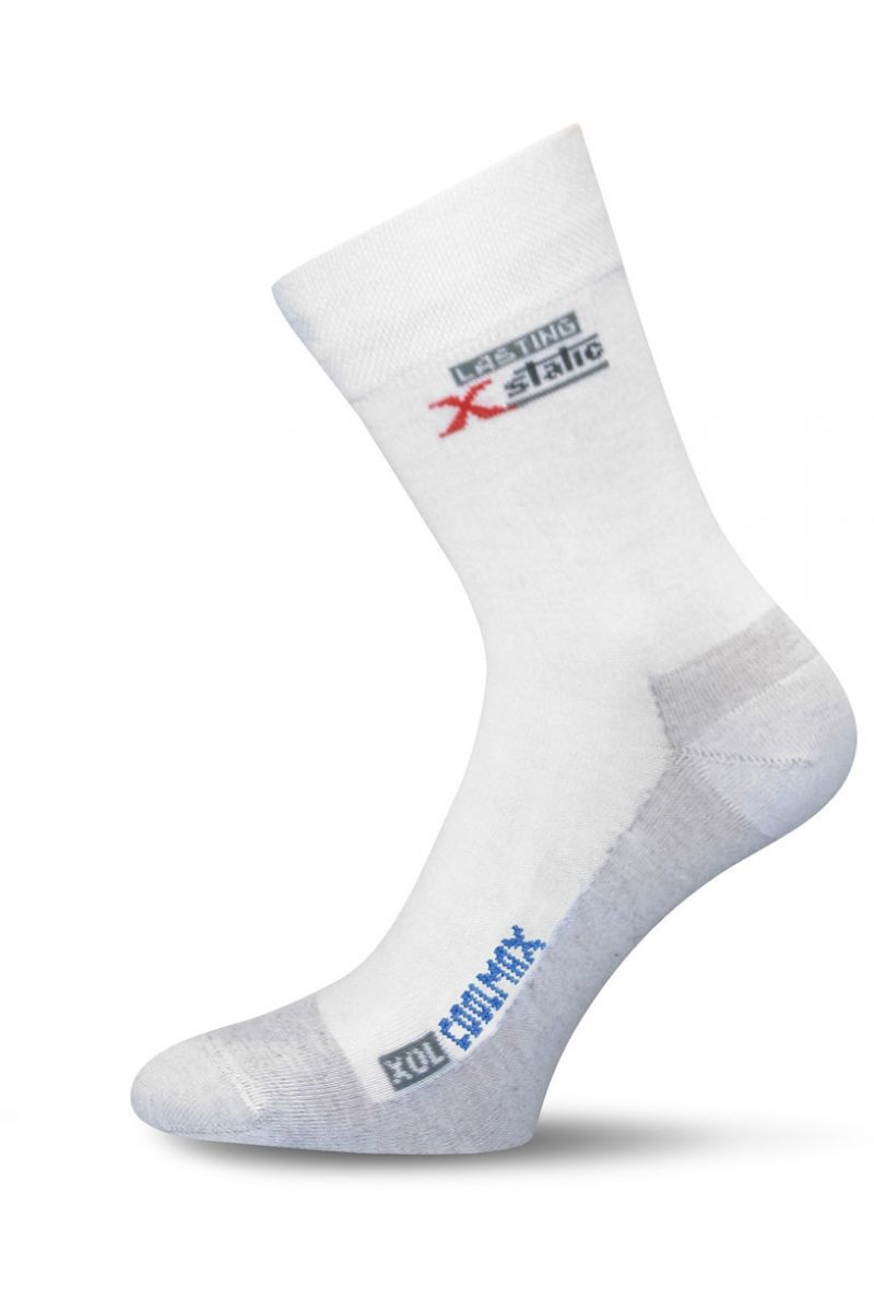 e787bcf1c46 Lasting XOL 001 bílá turistická ponožka Velikost  (38-41) M
