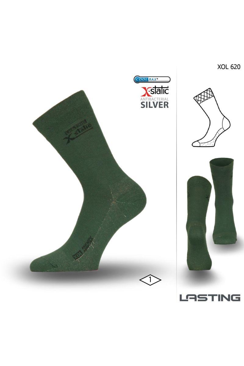 d37a341a515 Lasting XOL 620 zelená turistická ponožka Velikost  (34-37) S