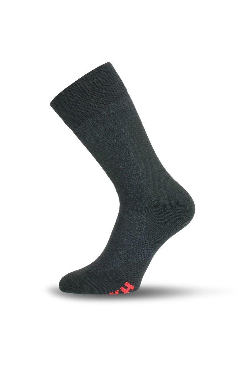 Lasting TKH 816 šedé zimní ponožky z ionty stříbra Velikost: (34-37) S