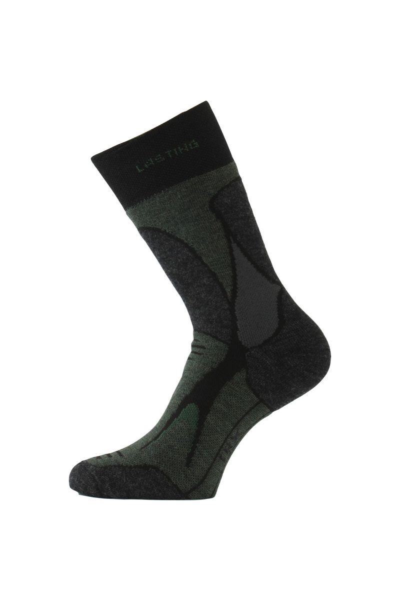Lasting TRX 908 černá merino ponožky Velikost: (38-41) M