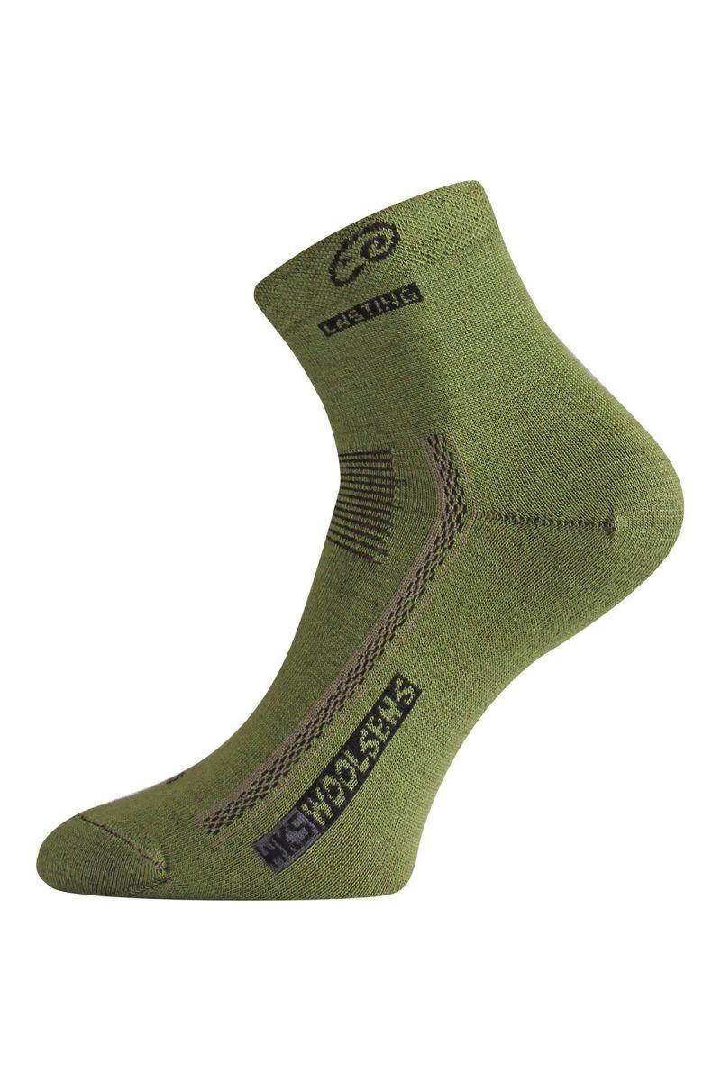 Lasting WKS 689 zelená vlněné ponožky Velikost: (38-41) M