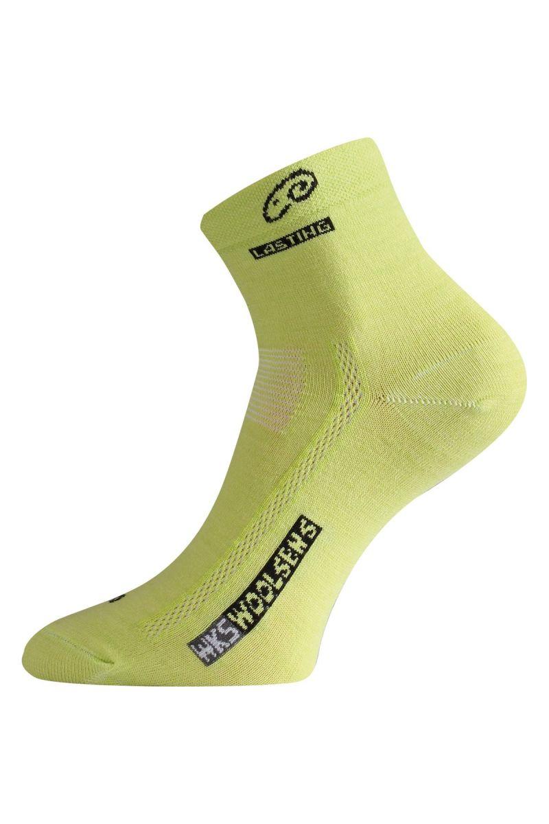 Lasting WKS 669 zelená vlněné ponožky Velikost: (42-45) L