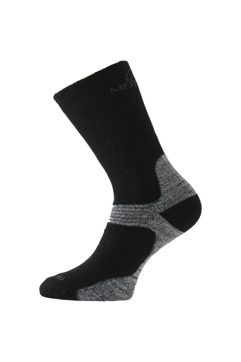 Lasting WSB 908 černá merino ponožky Velikost: (38-41) M
