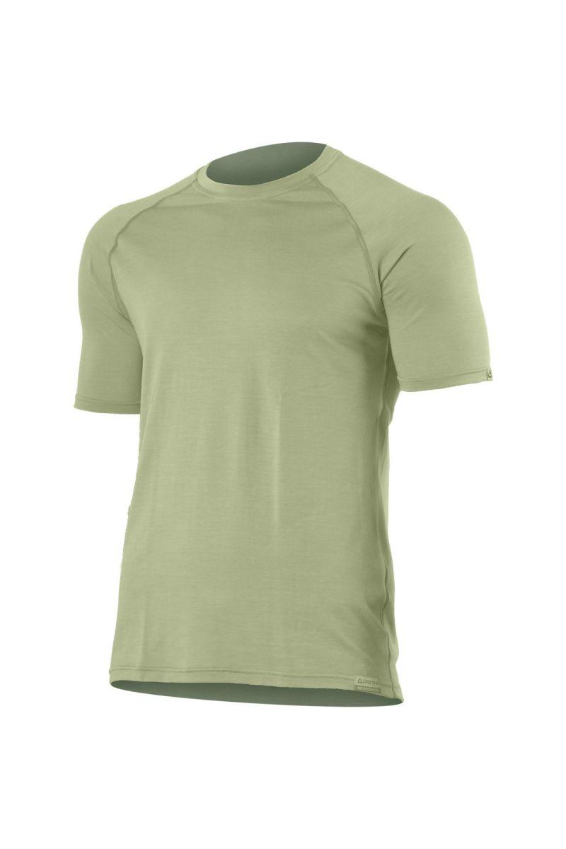 Lasting QUIDO 6767 písková pánské vlněné Merino triko Velikost: S