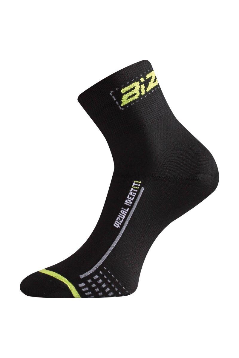 Lasting BS30 906 černá cyklo ponožky Velikost: (38-41) M