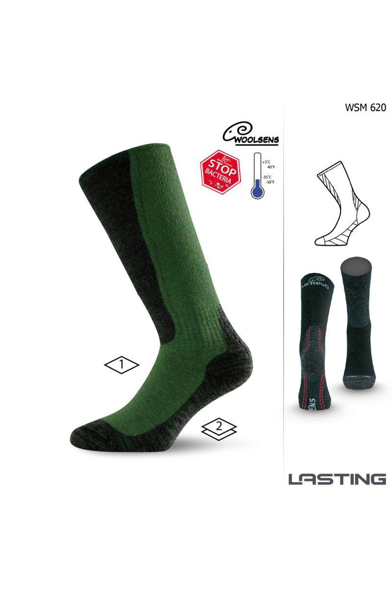 Lasting WSM 620 zelené vlněné ponožky Velikost: (34-37) S