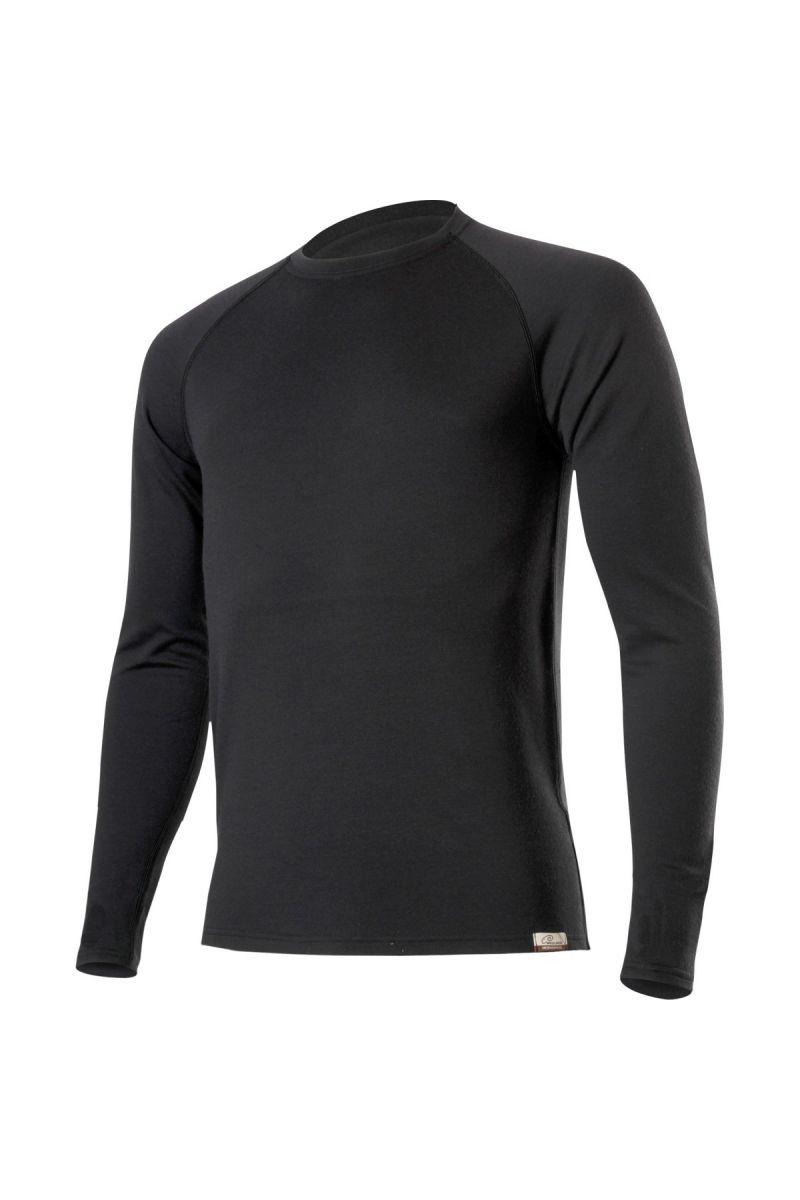 E-shop Lasting WITY 9090 černá vlněná Merino mikina