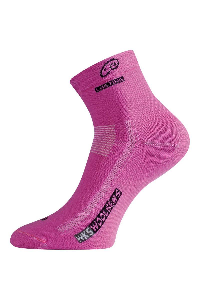 Lasting WKS 499 růžové ponožky z merino vlny Velikost: (42-45) L ponožky