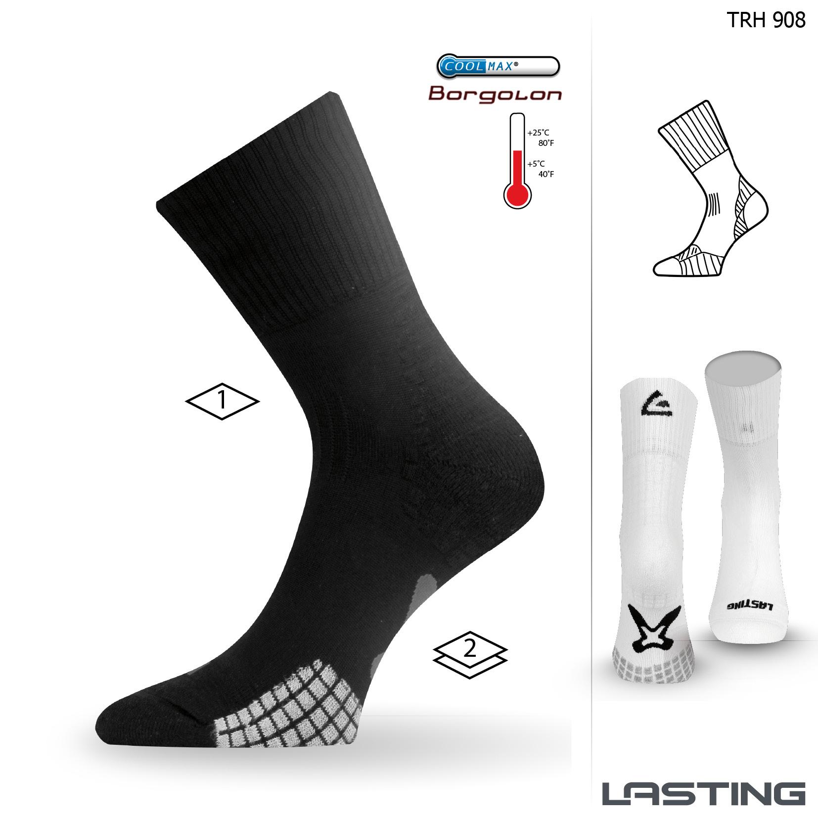 Lasting TRH 908 černá trekingová ponožka Velikost: (38-41) M