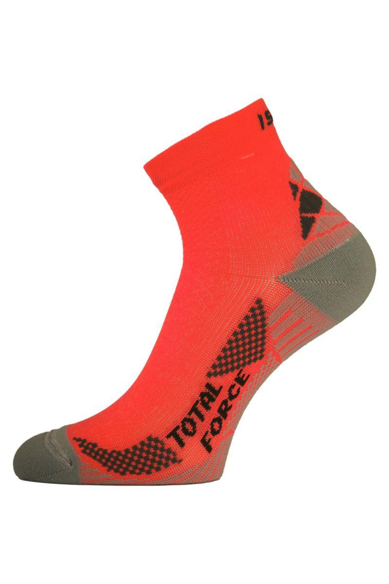 Lasting RTF 210 oranžové běžecké ponožky Velikost: (34-37) S ponožky