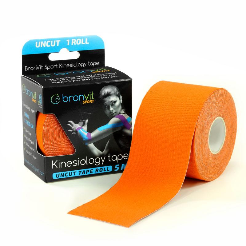 BronVit kinesiology tape - oranžová