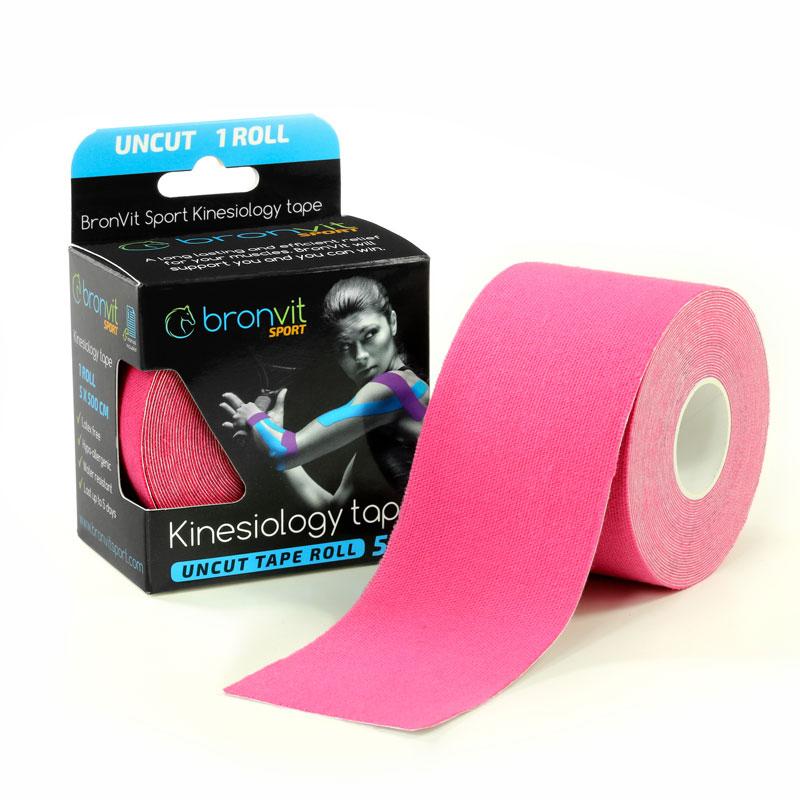 BronVit kinesiology tape - růžová