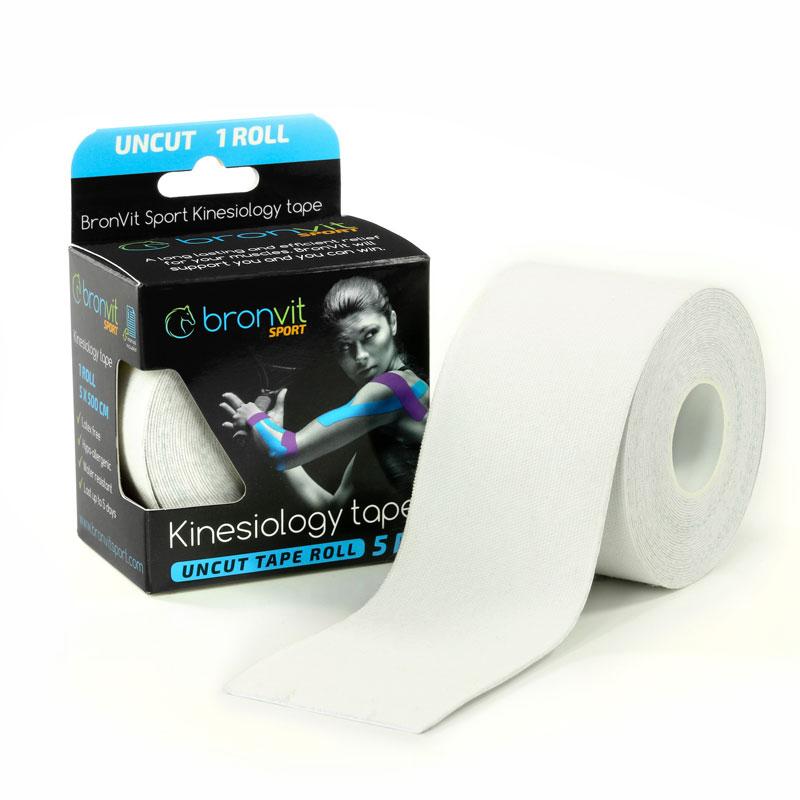 BronVit kinesiology tape - bílá