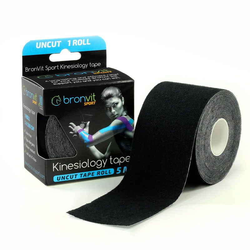 BronVit kinesiology tape - černá