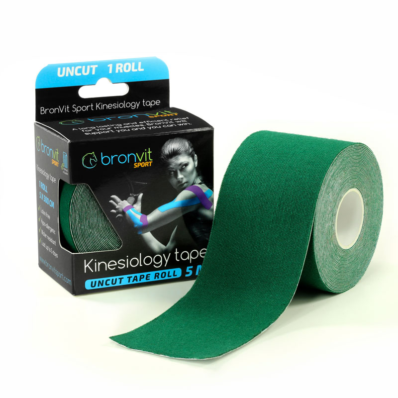 BronVit kinesiology tape - tmavě zelená