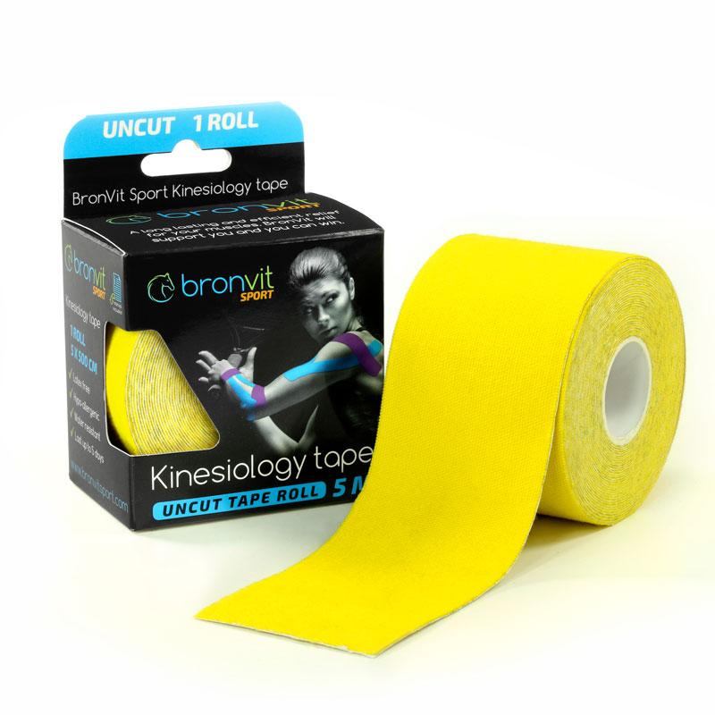 BronVit kinesiology tape - žlutá