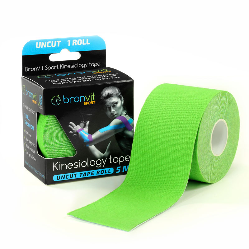 BronVit kinesiology tape - zelená