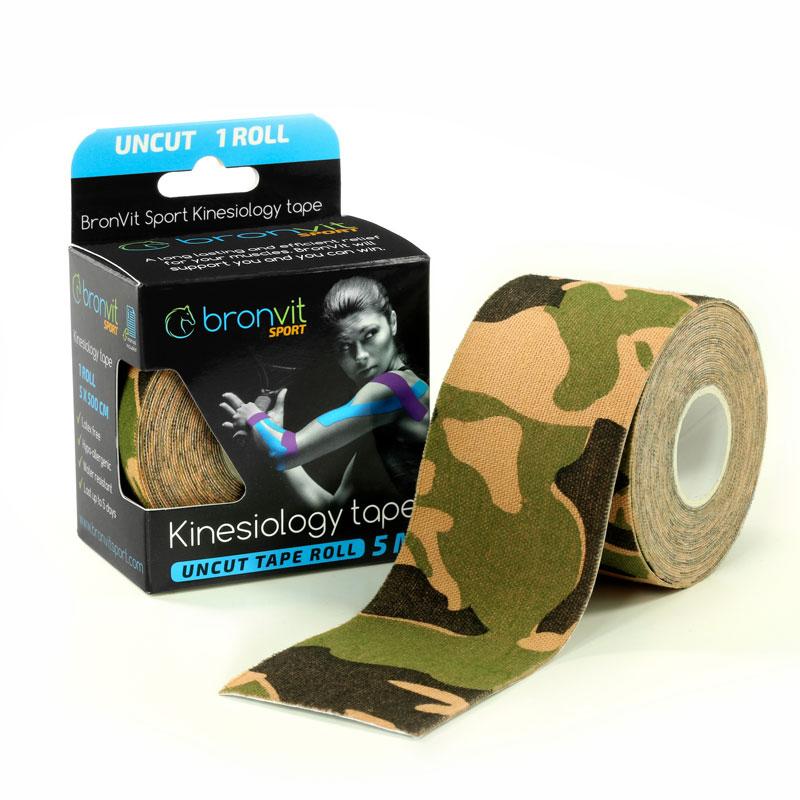 BronVit kinesiology tape - maskovaná zelená
