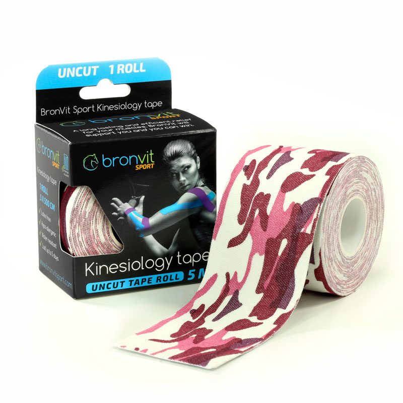 BronVit kinesiology tape - maskovaná červená