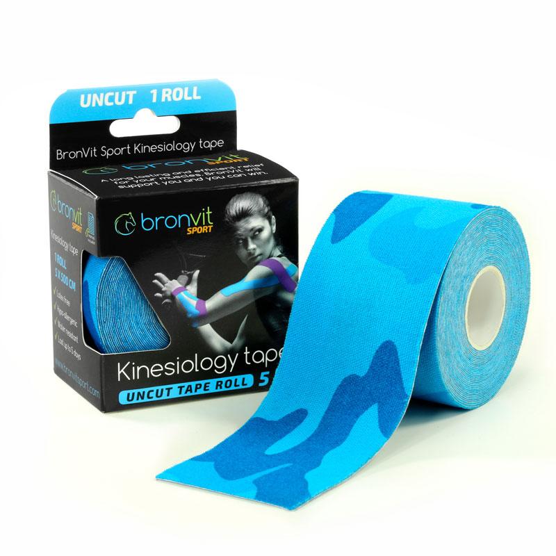BronVit kinesiology tape - maskovaná modrá