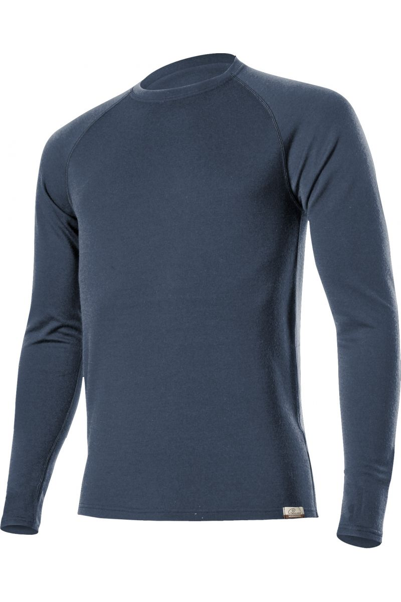 E-shop Lasting WITY 5656 modrá vlněná Merino mikina