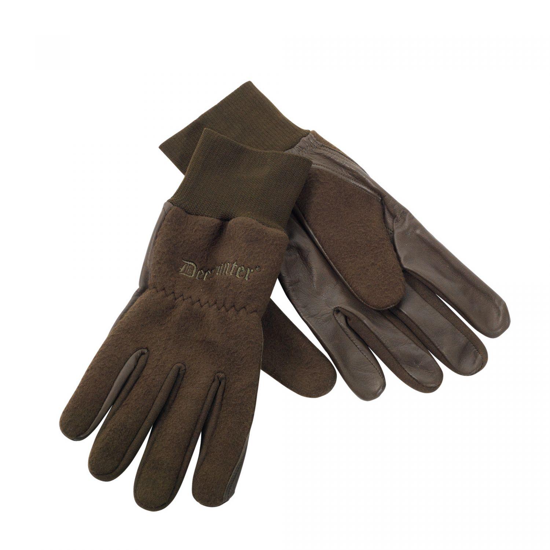 Deerhunter rukavice Fleece Gloves w.Leather (8761) 376 Velikost: M