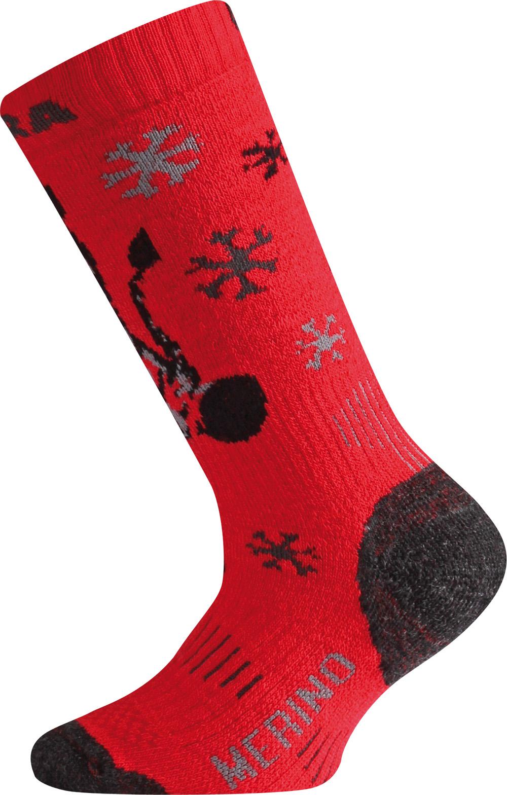 Lasting WJS 389 červená merino ponožky junior Velikost: (34-37) S možnost vrácení do 12.1.2018