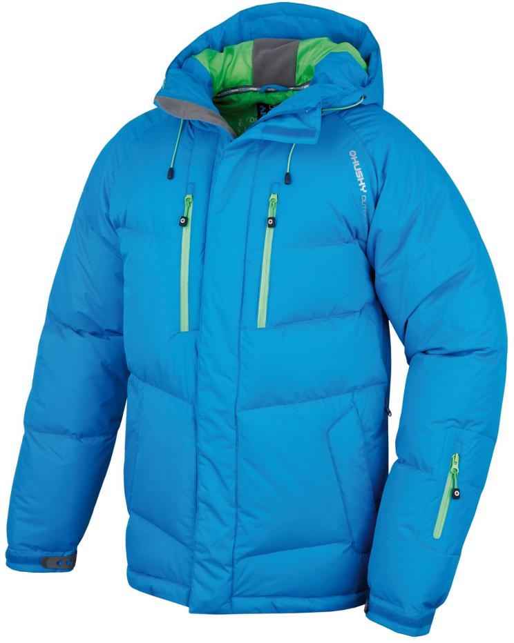 Husky Pánská extrémní péřová bunda Arctida modrá Velikost: XL