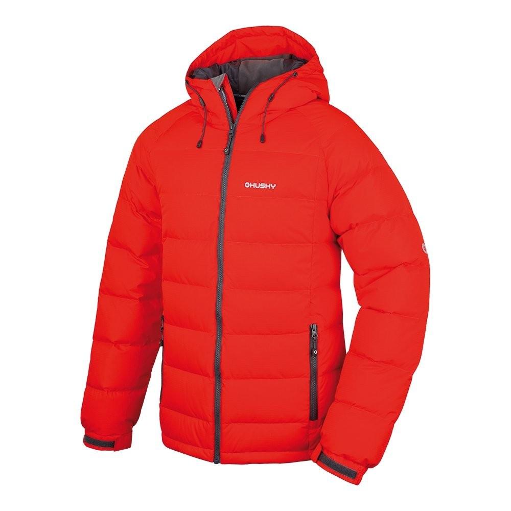 Husky Pánská péřová bunda Heral M oranžová Velikost: XXL