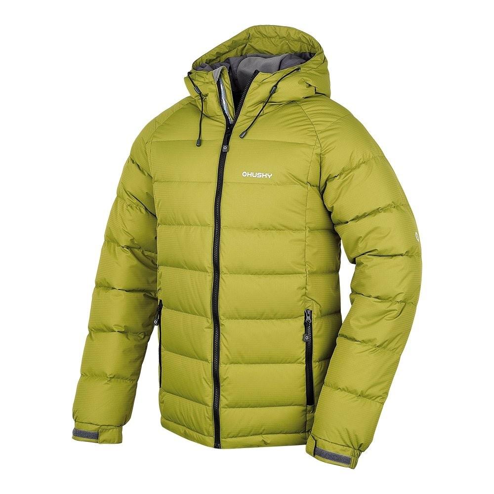 Husky Pánská péřová bunda Heral M zelená Velikost: XXL