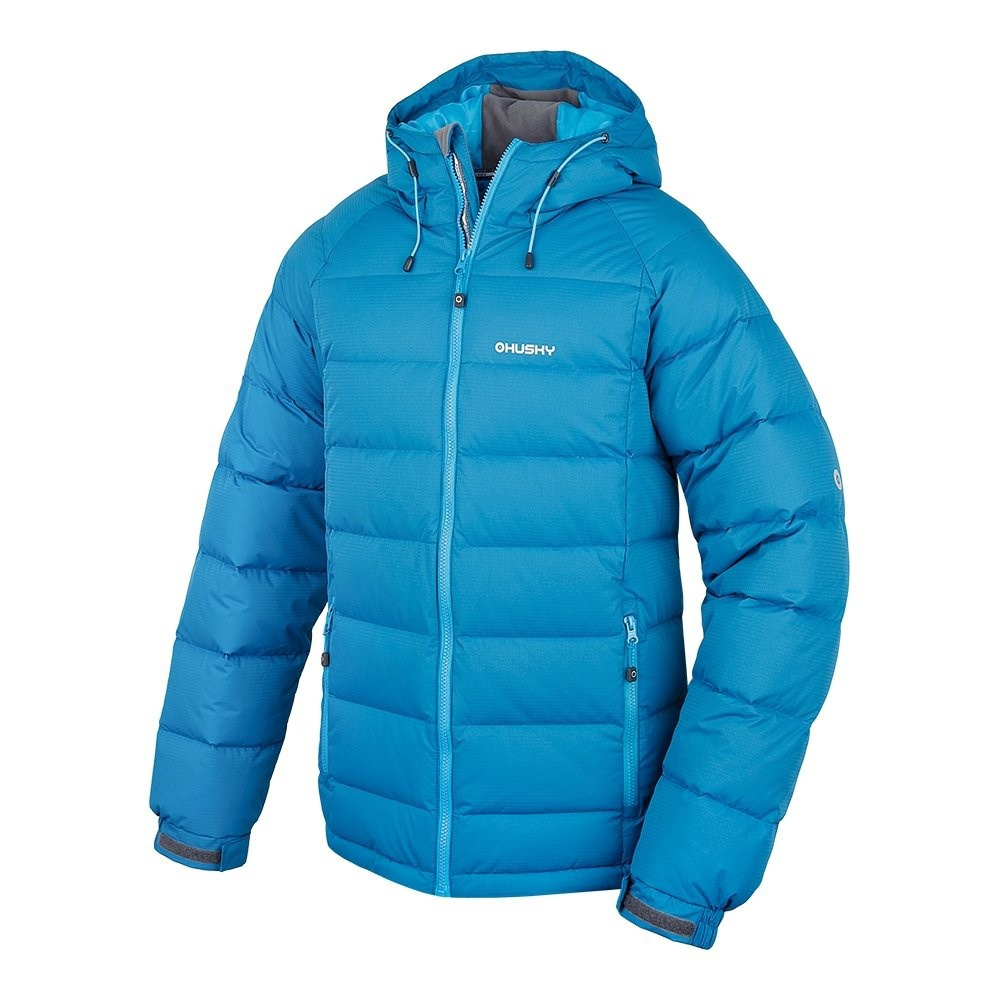 Husky Pánská péřová bunda Heral M modrá Velikost: XXL
