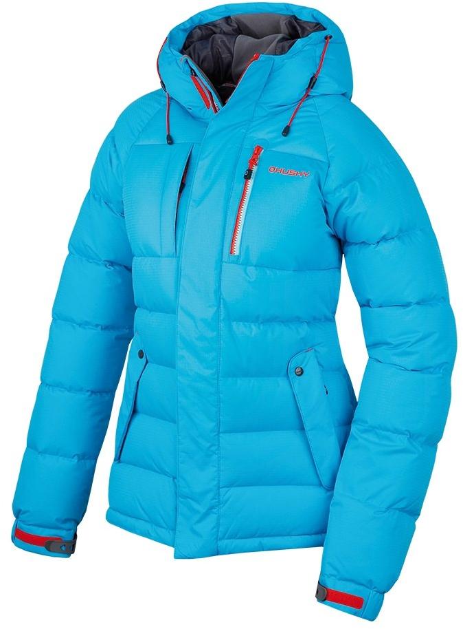 Dámská péřová bunda Arctis modrá Velikost: XL