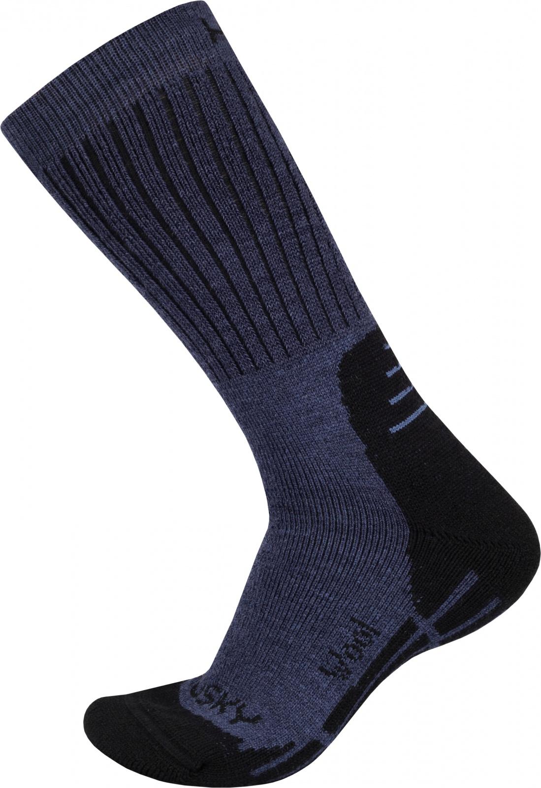 Husky Ponožky All Wool modrá Velikost: L (41-44)