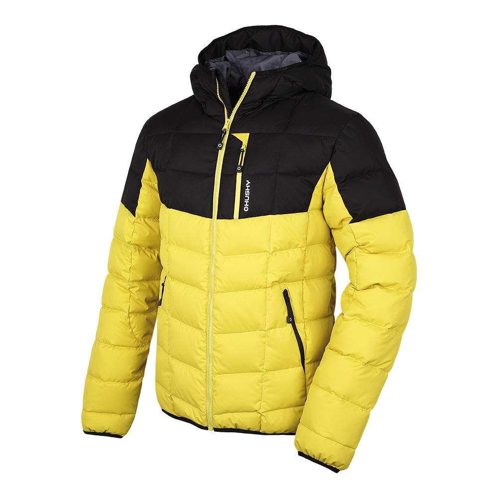 Husky Pánská sportovní péřová bunda Flory M žlutá Velikost: XXL