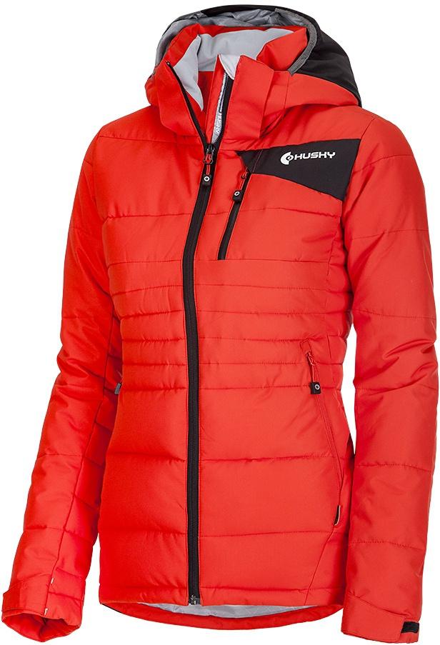 Husky Dámská plněná zimní bunda Norel L červená Velikost: S