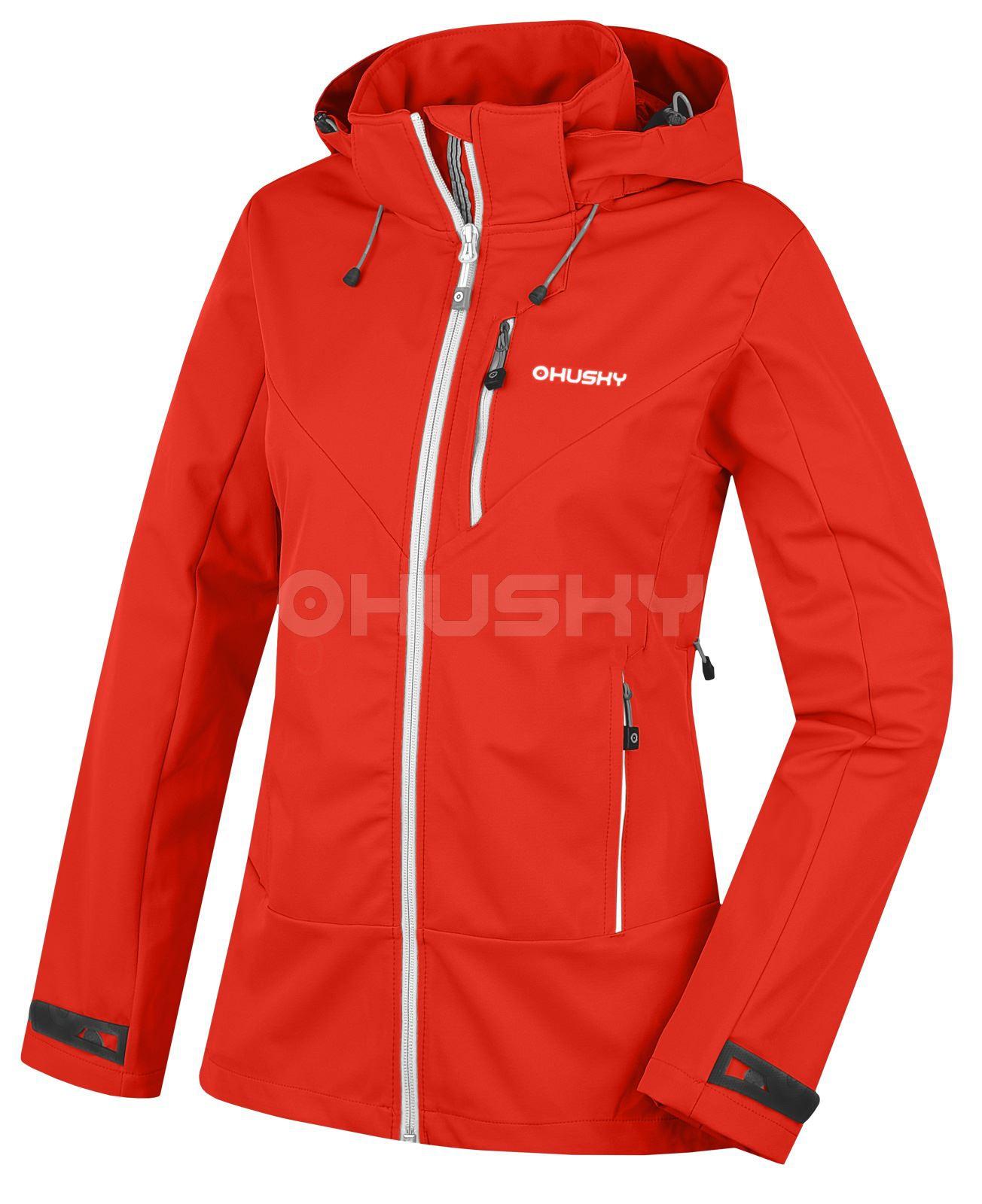 Husky Dámská outdoor bunda Spoly L červená Velikost: M