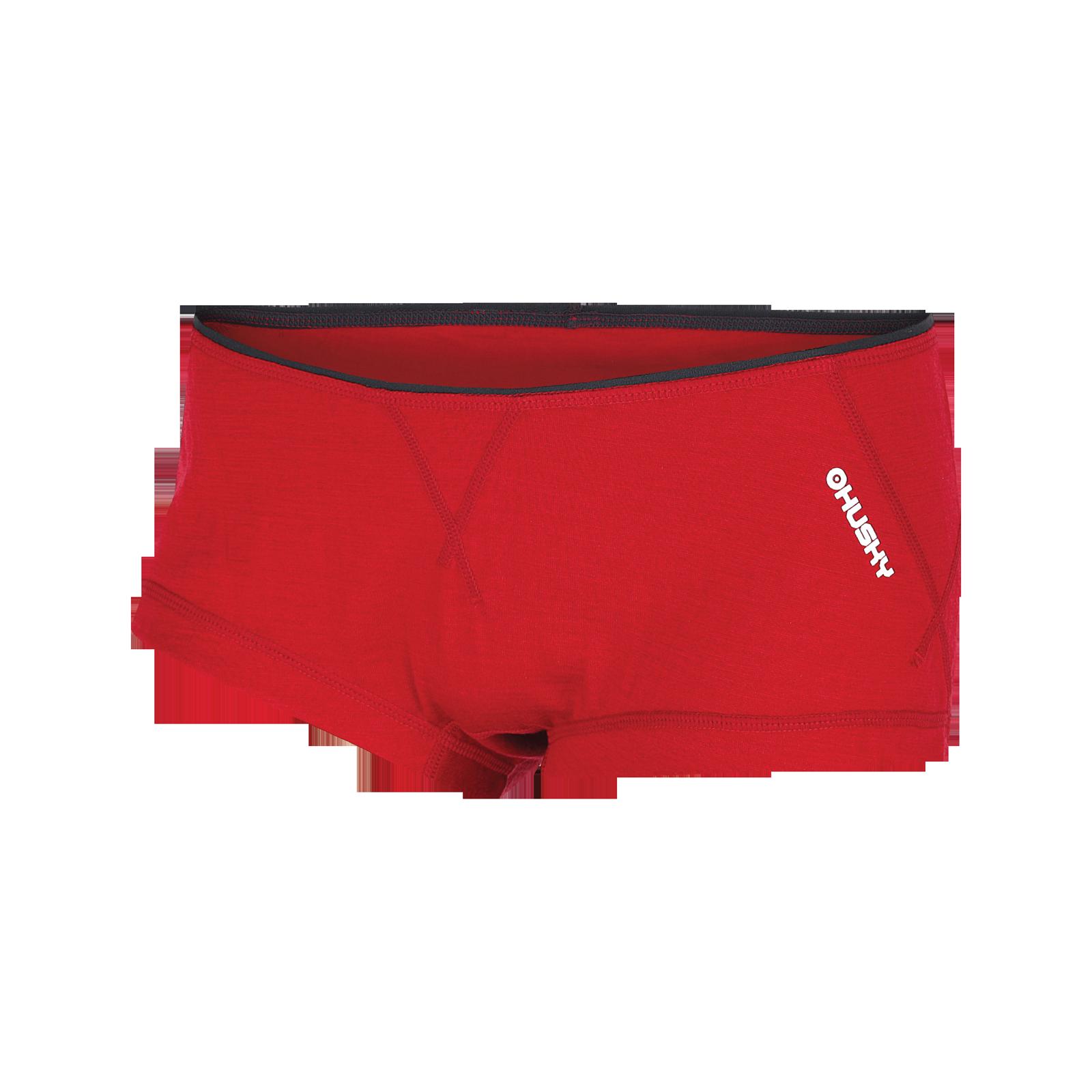Husky Merino termoprádlo Kalhotky dámské červená Velikost: M