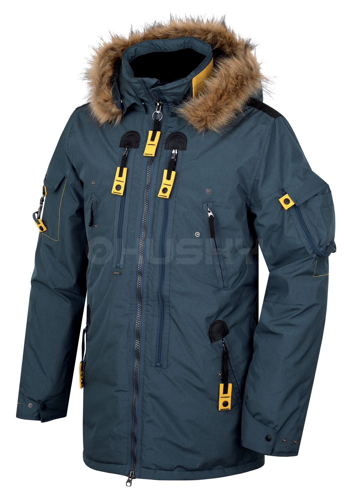 Husky Pánská plněná zimní bunda Nerida tm.modrá Velikost: L