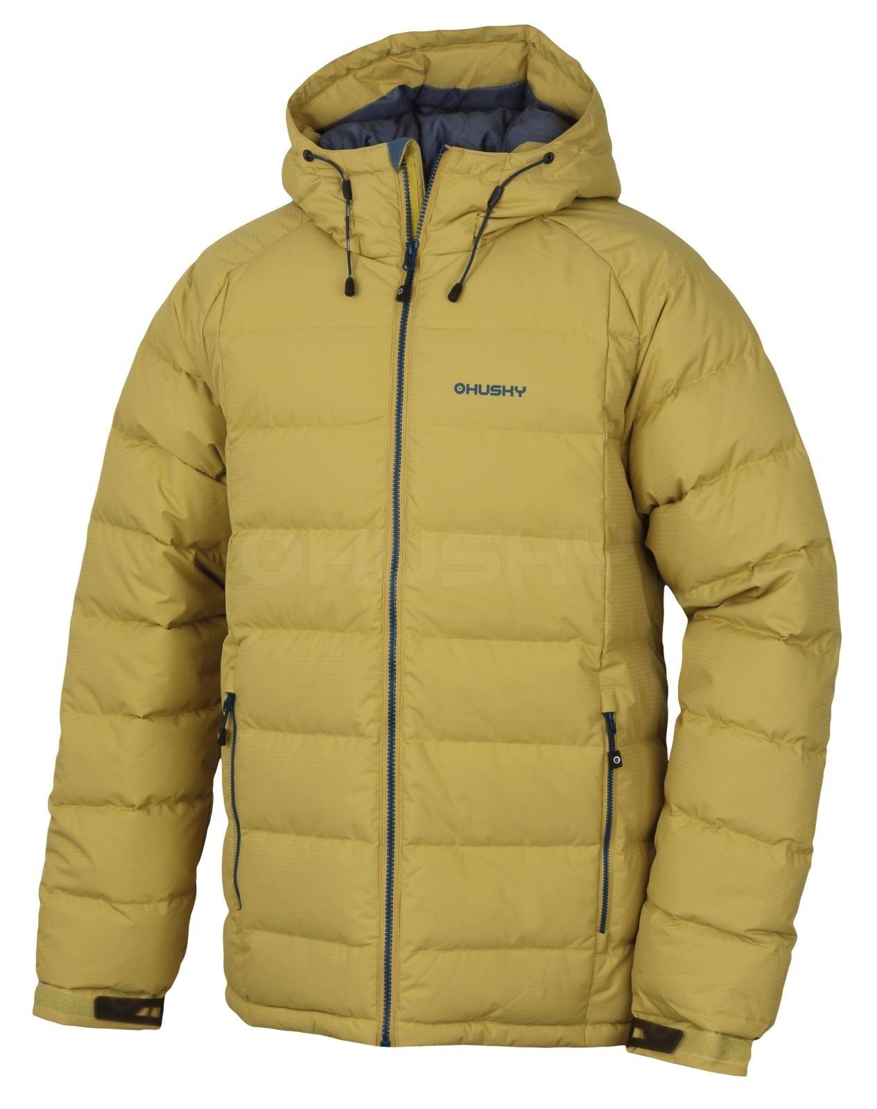 Husky Pánská péřová bunda Heral M žlutá Velikost: XXL