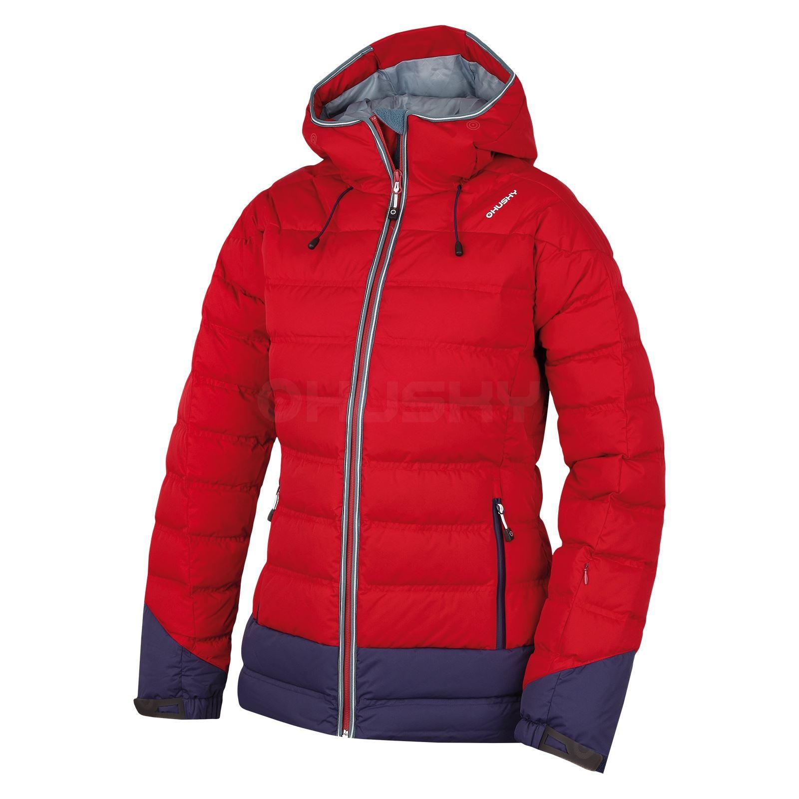 Husky Dámská péřová bunda Fadin L červená Velikost: M