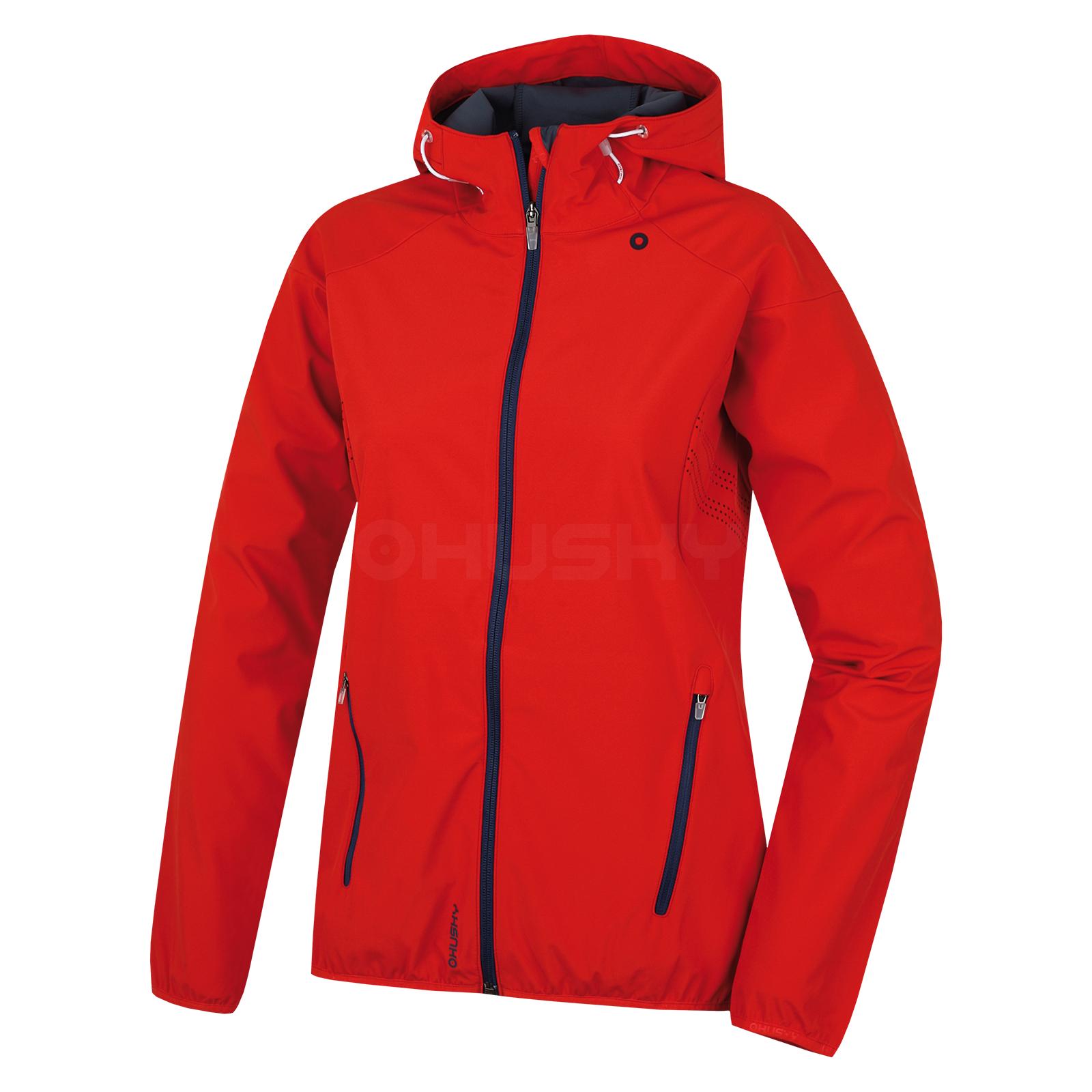 Husky Dámská softshell bunda Sally L červená Velikost: M