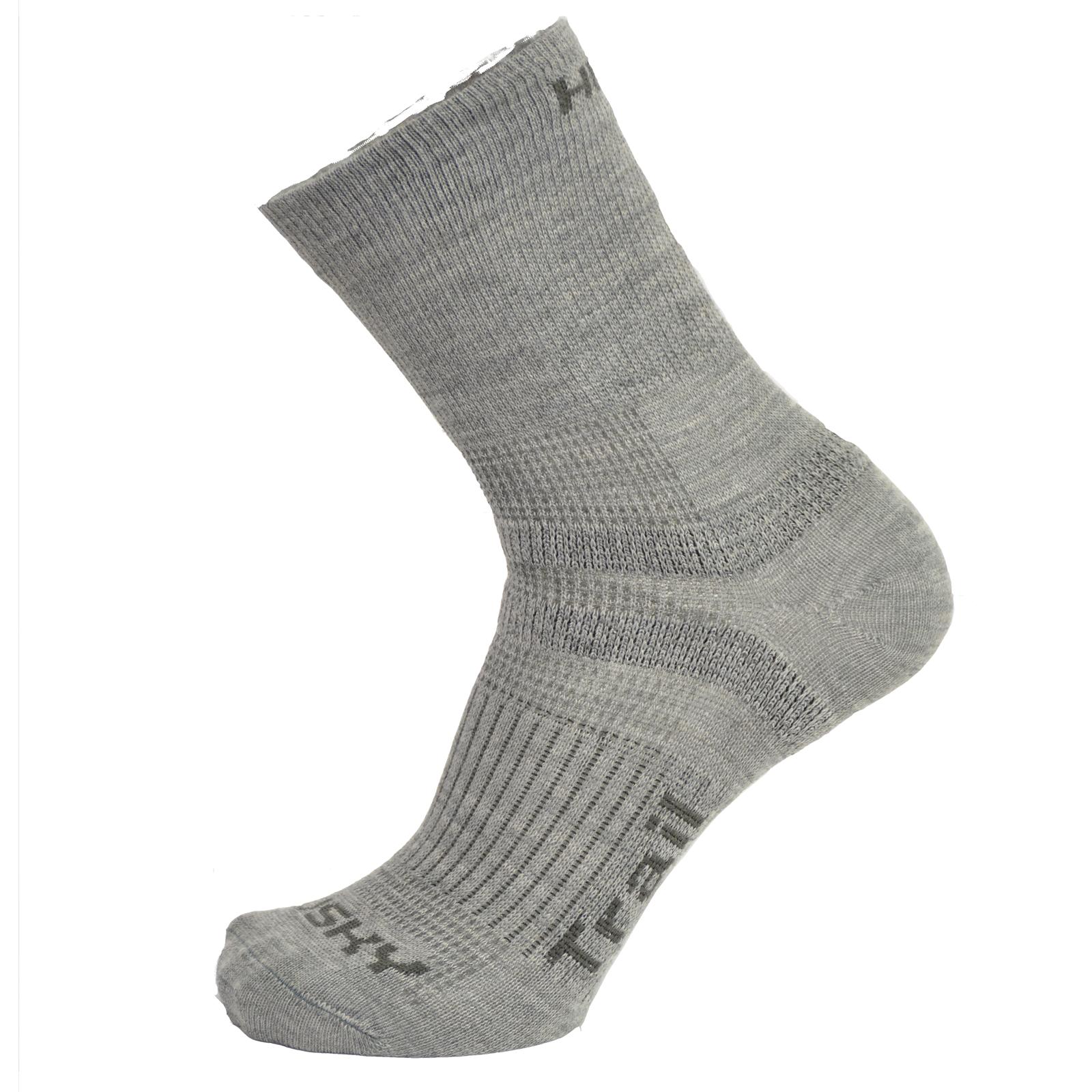 Husky Ponožky Trail sv. šedá Velikost: L (41-44) ponožky