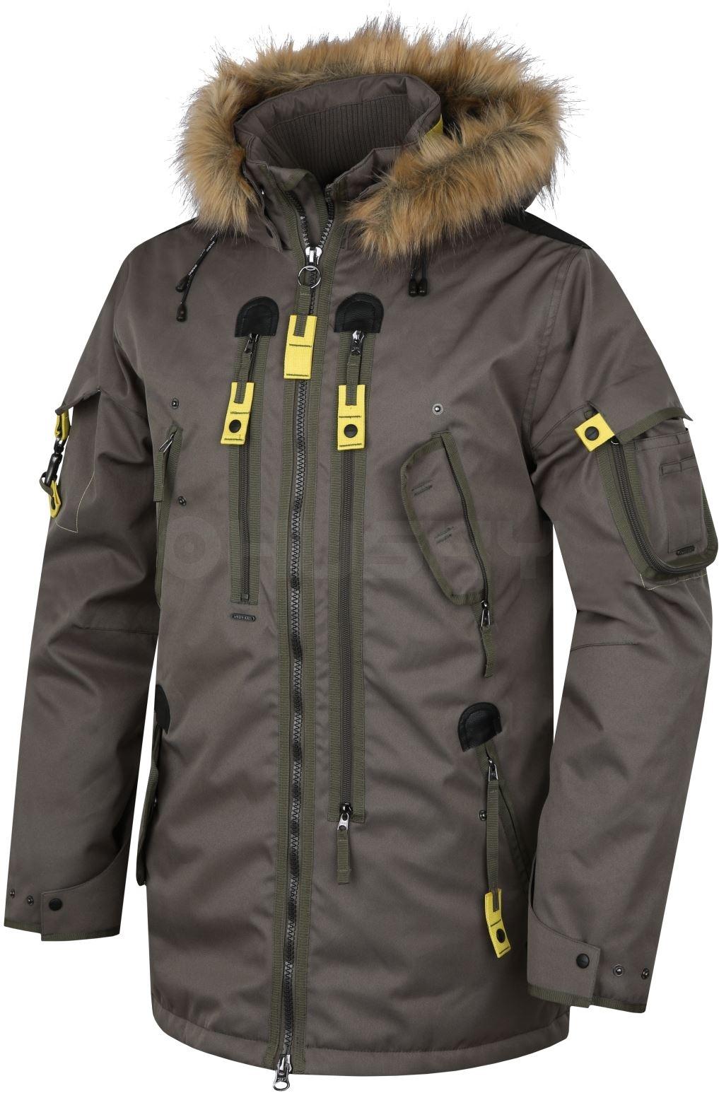 Husky Pánská plněná zimní bunda Nerida tm. olivová Velikost: M