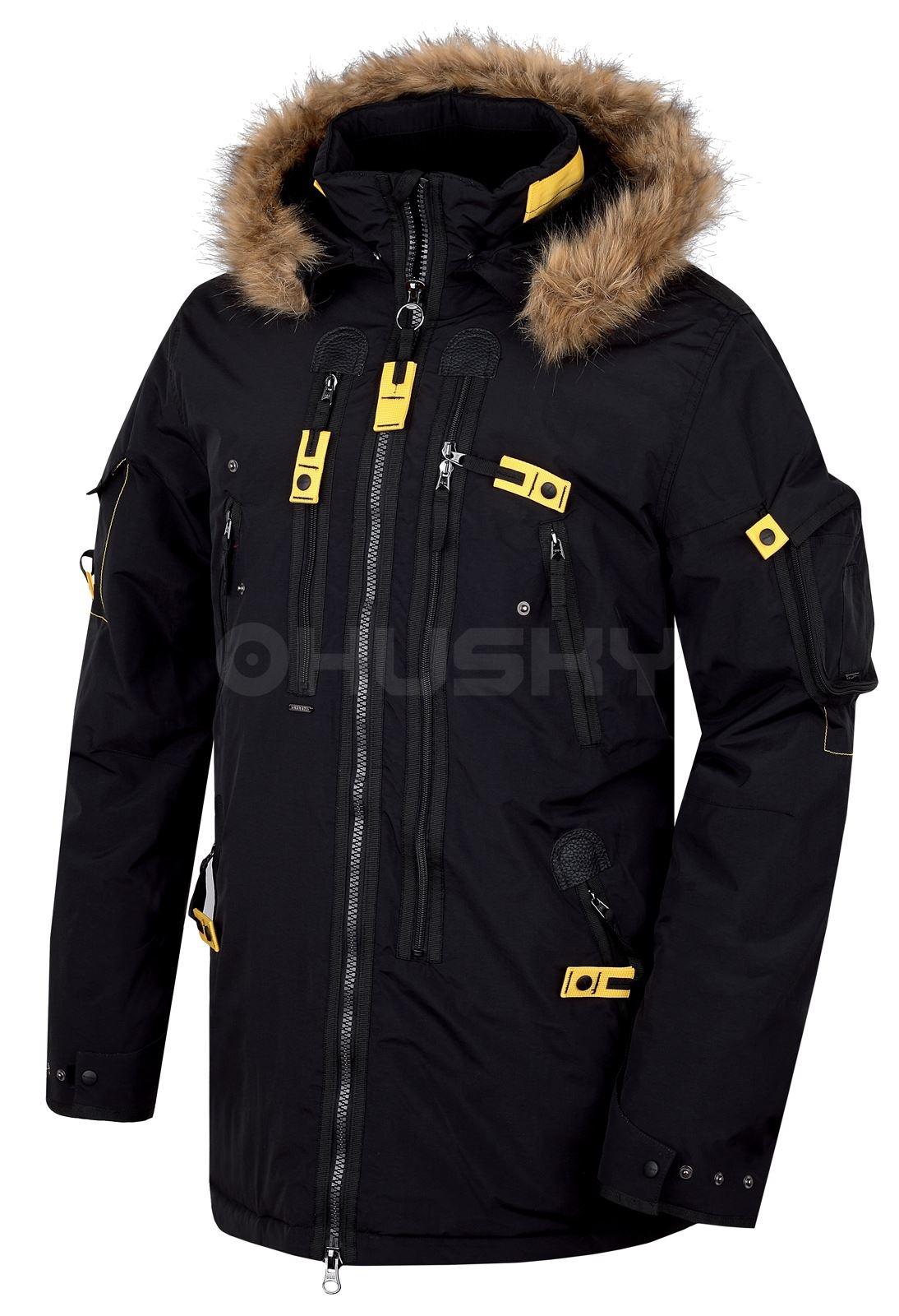 Husky Pánská plněná zimní bunda Nerida černá Velikost: XXL
