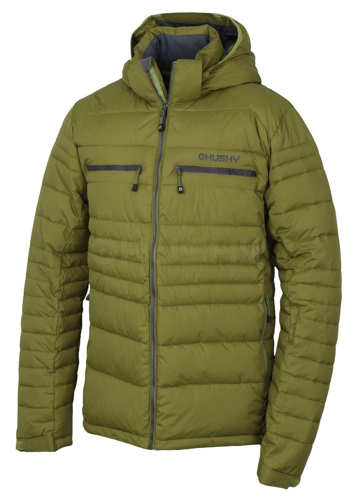Husky Pánská plněná zimní bunda Norel M olivová Velikost: M