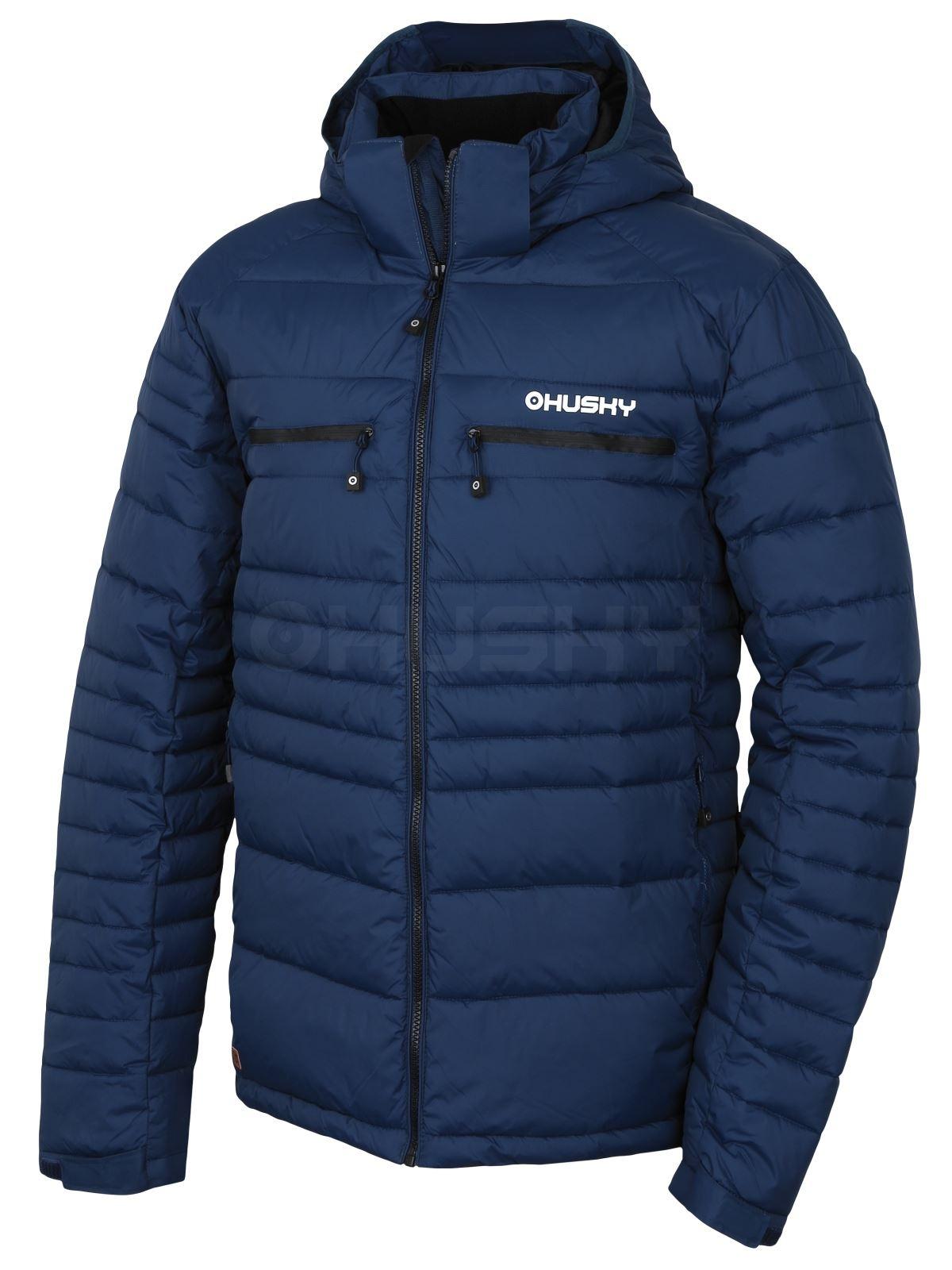 Husky Pánská plněná zimní bunda Norel M tm.modrá Velikost: L - long